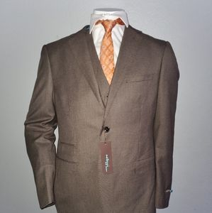 luciano natazzi Brown Hounds Brand New Suit 42L/36